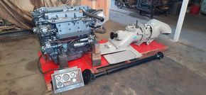 Yanmar 4LH-DTE marine engine with Jet drive