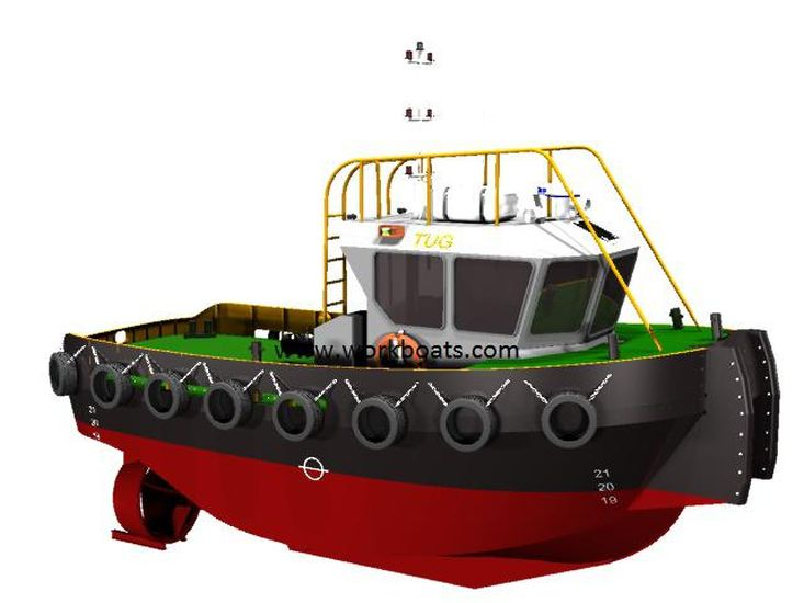 NEW MINI TUGBOAT TWIN SCREW TUGBOAT 9TBP