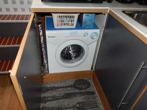 Dutch Steel Cruiser spacious liveaboard - Washer/Dryer