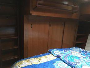 Bow cabin storage