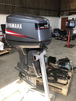 Pir of 115 hp Yamaha outboards