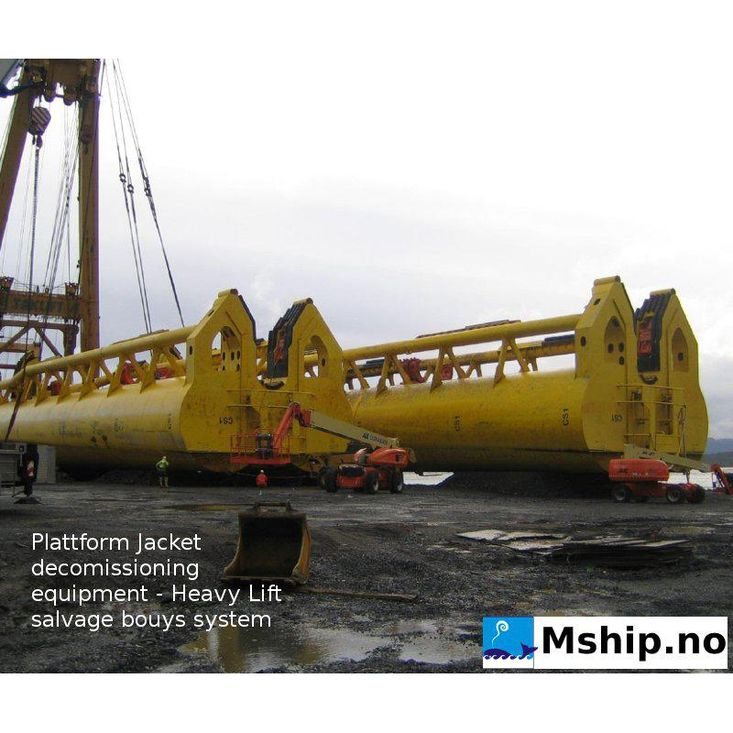 Plattform Jacket decomissioning equipment