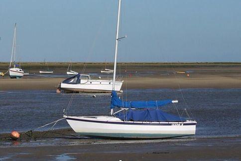 Hawk 20 dayboat in North Norfolk.