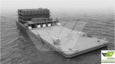 101m / 30,48m Pontoon / Barge for Sale / #303G