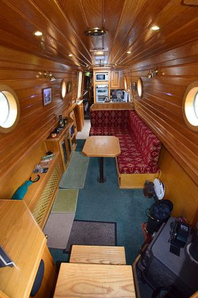 Saloon from well deck