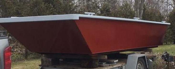 """19' X 7'6 X 32"""" New Steel Work Boat - Built to Order"""