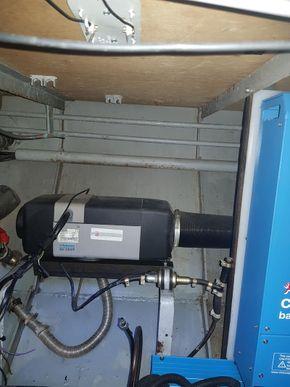 Webasto blow air heating