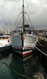 Ex Breton Tuna boat partly converted liveaboard retail shop
