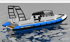 Redbay Stormforce 750 Canopy Sterndrive Rendering