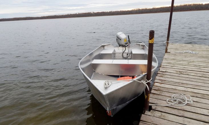 New 15′ x 68″ Aluminum Work/Fishing Tiller Boat