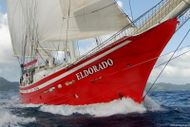 EXCITING RED SCHOONER SAILING WORLDWIDE