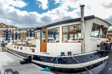 Charming Dutch barge in Limehouse, E14