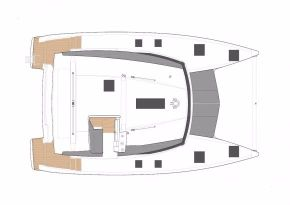 Manufacturer Provided Image: Manufacturer Provided Image: Fountaine Pajot Lucia 40 Deck Layout Plan