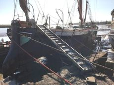 80ft Thames Sailing Barge, an Historic wooden vessel, rebuilt.