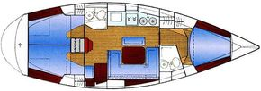 Bavaria 38 Holiday Layout
