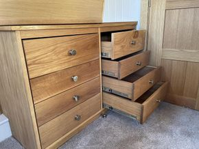 Bespoke oak, soft close drawer unit
