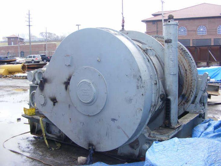 Used Almon Johnson Single Drum 100,000 lb Line Pull Winch
