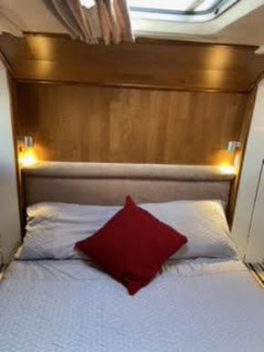 Headboard and escape hatch