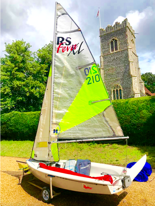 RS FEVA XL WITH SPINNAKER & RACE SAIL.FULL PACKAGE!