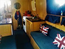 Lovely 34' cruiser stern moored at Roydon Marina Village