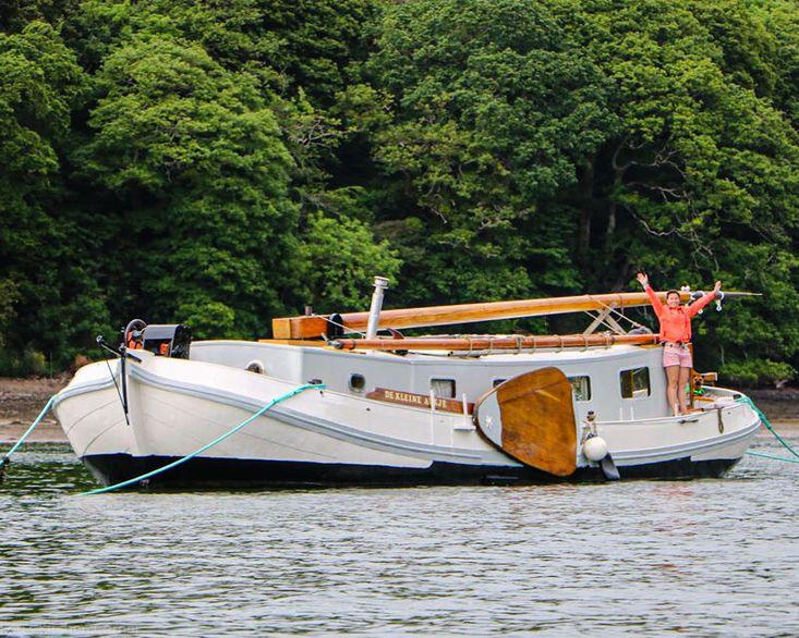 Dutch Sailing Barge Central London Moor