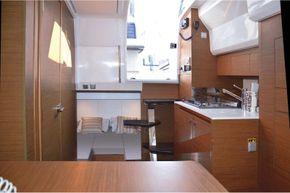 Jeanneau Cap Camarat 10.5 WA - view from forward cabin to aft cabin