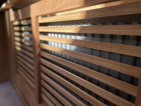 Custom made solid oak radiator cabinet
