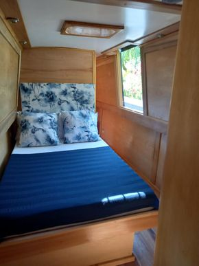 Fixed double bed