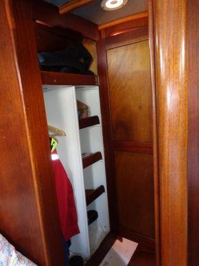 Hanging locker - open