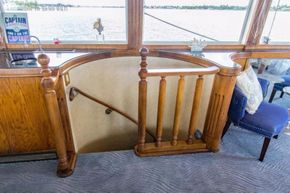 Stairway to lower aft staterooms