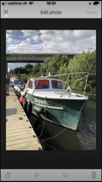 20ft Colvic fishing boat