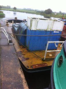47ft x 14ft ex BWB Crane Barge - Ideal for Grand Union - Road transpor