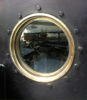 brass portholes opening throughout