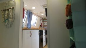 View from the Bow bedroom to the main Galley