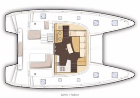 Manufacturer Provided Image: Lagoon 42 Saloon Layout