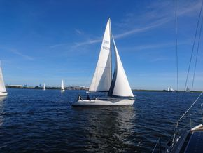 Sailing in Cardiff bay