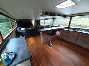 Dutch Barge 27.65 Well equiped liveaboard with TRIWV valid until nov 2023 - Looking Aft