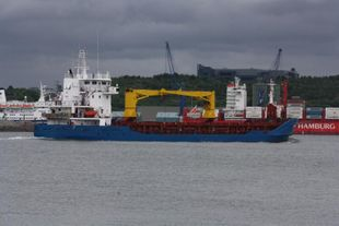285' Geared Cargo Ship
