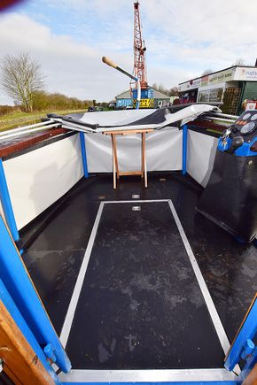 Rear deck from inside