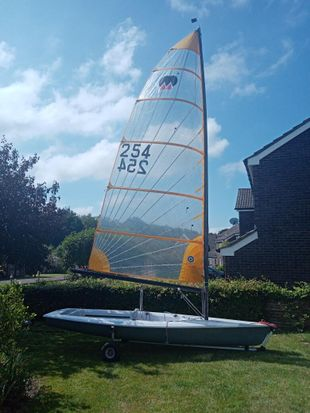 Megabyte single handed racing dinghy