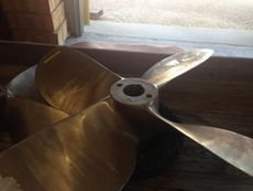 "R-L 84.5 X 77.25, 4 BLADE, 7.5"" BORE AVONDALE TROOST PROPELLER"