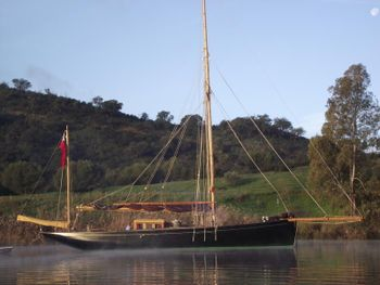 Stunning 50ft new wooden gaff yawl