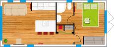 2020 Custom 1 Bedroom Floating Lodge
