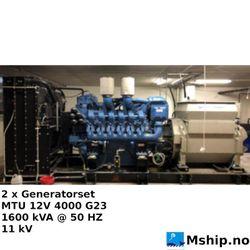 2 x MTU 12V4000 1600 kVA generator set